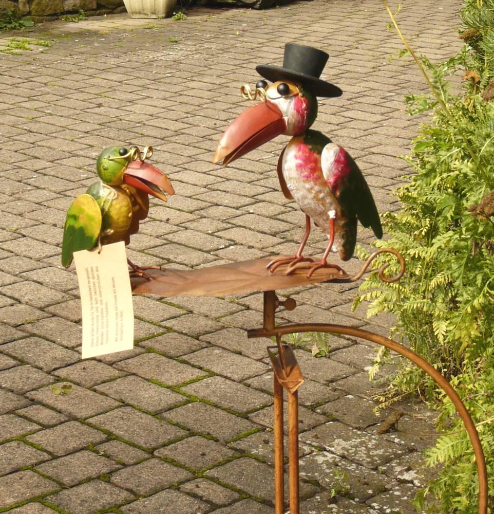Rabe mit Brille Bunt Metall Gartenfiguren Hingucker NEU Garten Windrad