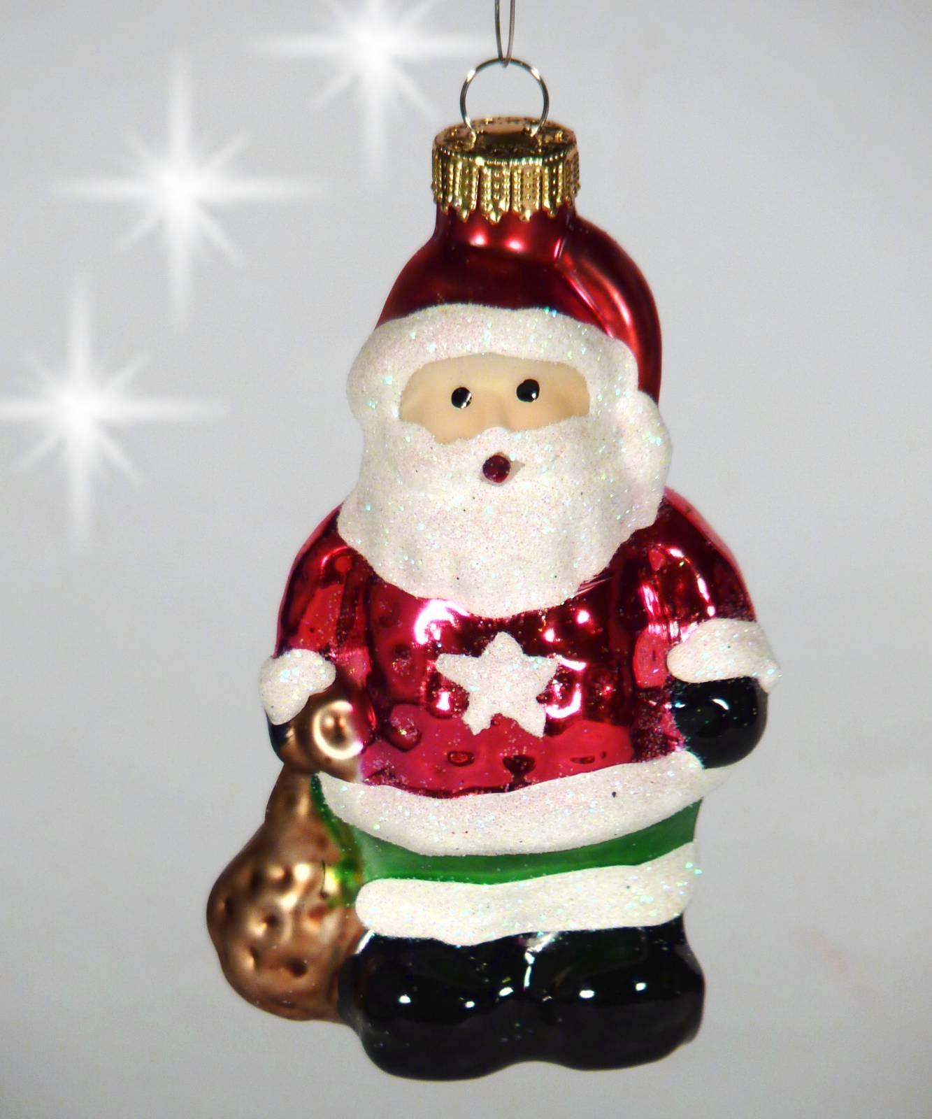 Christbaumschmuck Glas Christbaumkugel Weihnachtsmann Nikolaus