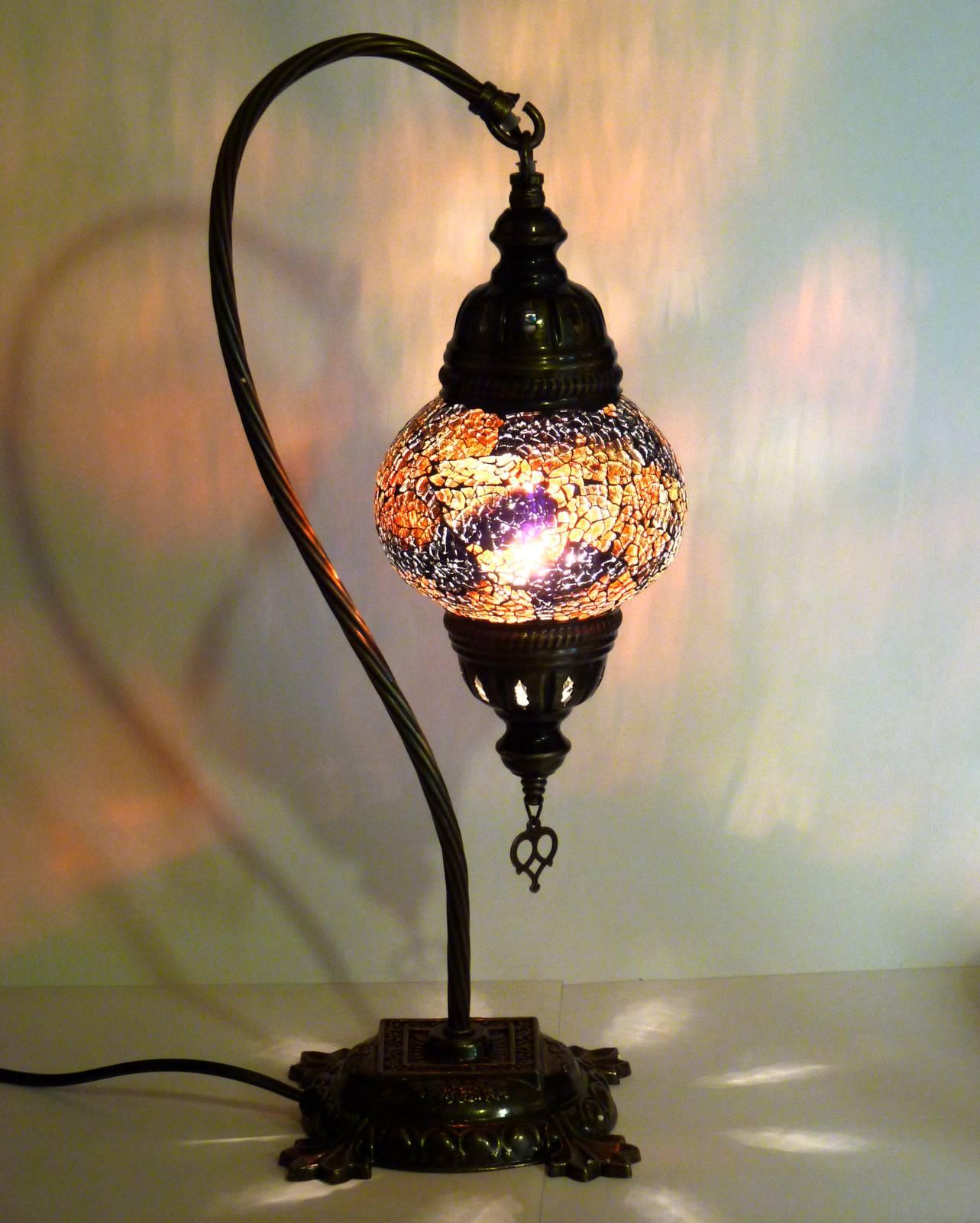 Mosaiklampe tischlampe aus glas gall zick orientalisch handarbeit ebay for Mosaik lampe orientalisch